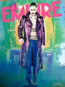Jared Leto as the Joker on the cover of Empire Magazine